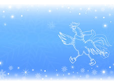 New Year`s background with a symbol of year `Winter Magic` Stock Photos