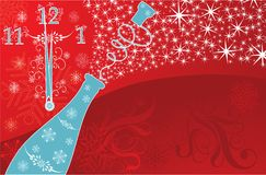 New year's background, vector Royalty Free Stock Image
