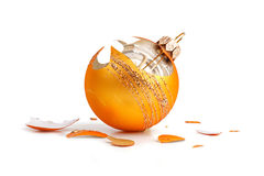 New Year's ball crashed on a white background Stock Photography