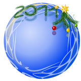 New Year's ball framework Royalty Free Stock Photo
