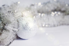 New Year`s ball on a white background Stock Photo