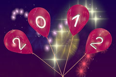 New Year's balloons 2012 Royalty Free Stock Photos