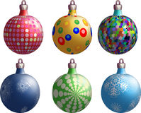 New Year's balls. Variants on a white background vector illustration