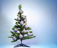 New Year's balls on a New Year tree Royalty Free Stock Photo