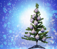 New Year's balls on a New Year tree Royalty Free Stock Image