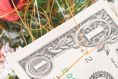 New Year's banknote stock image