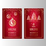 New Year`s banners, flyers for web sites stock illustration