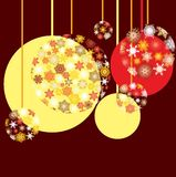 New Year`s baubles. Background for your greetings card, vector illustration,  see more at my portfolio, you can type your text Stock Images