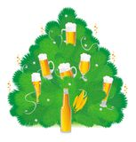 New Year's beer Royalty Free Stock Image