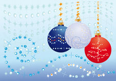 New Year's blue background Stock Image