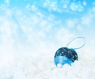 New Year's blue ball Stock Photo
