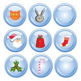New Year's buttons Stock Image