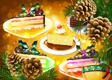 New Year's cake Stock Photo