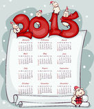 New Year's calendar 2015 Stock Photo