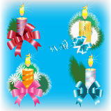 New Year's candles, collection Royalty Free Stock Photos
