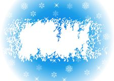 New Year's card. New Year's background with snowflakes and a place for the text Royalty Free Stock Images