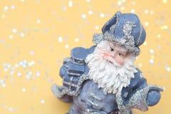 New year's card. Santa - christmas decoration. New year's card Royalty Free Stock Image
