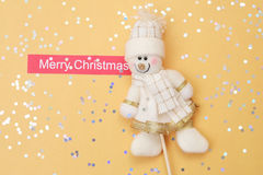 New year's card. With the snowman Royalty Free Stock Image