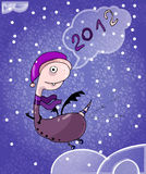 New Year's card: 2012 Stock Photos