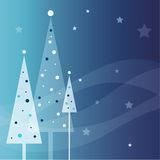 New year's card. New year's image with Christmas trees royalty free illustration