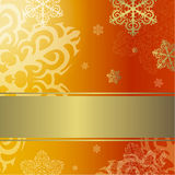 New Year's card. New year's background with snowflakes Royalty Free Stock Photo