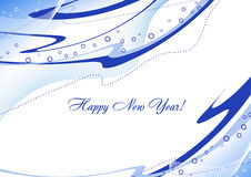 New Year's card. Template of a New Year's card. Vector Stock Photography