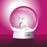 New year's card. Image with Glass ball - cute illustration Royalty Free Stock Image
