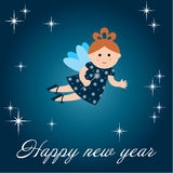 New year's card with fairy Stock Image