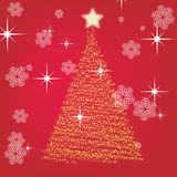 New Year's card with a fur-tree Royalty Free Stock Images