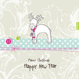 New year's card. Greeting card with copy space Stock Photos