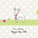 New year's card. Greeting card with copy space Royalty Free Stock Photos