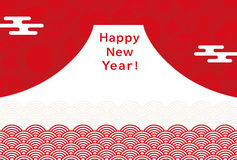 New Year's card of Mt. Fuji. Royalty Free Stock Photos