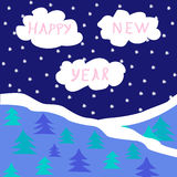New Year's card Royalty Free Stock Photos