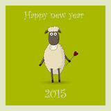 New Year's card 2015 with the ram Royalty Free Stock Photo