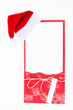 New Year's card with Santa hat Stock Image