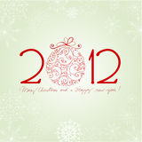 New Year's Card with snowflakes Royalty Free Stock Photography