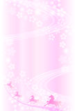 New Years card tree background of cherry Royalty Free Stock Image