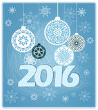 New year`s card. Vector design of new year`s card with hand drawn elements of mandalas and snowflakes. EPS 10 Stock Images