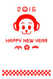 New Years card 2016, year of the monkey royalty free illustration