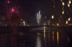 New year`s celebrations in Tuscany. View of new year`s celebrations in Tuscany Royalty Free Stock Images