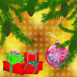New Year's celebratory gifts. Give pleasure and good mood for the whole year Royalty Free Stock Photography