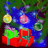 New Year's celebratory gifts Stock Images