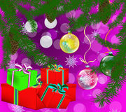 New Year's celebratory gifts. Give pleasure and good mood for the whole year Royalty Free Stock Images