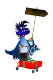 New Year's celebratory sales at a discount. Dark blue dragon a symbol of new 2012 on east calendar vector illustration