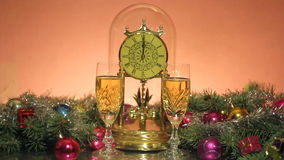 New Year's champagne stock footage