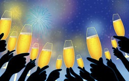 New Year's champagne Royalty Free Stock Images