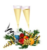 New Year's Champagne Toast Stock Photography