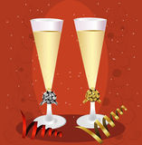 New Years Champagne Toast Royalty Free Stock Photography