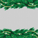 New Year's and Christmas background with place for your text. Christmas tree on the knitted background Royalty Free Stock Photo
