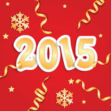New Year's and Christmas background. With serpentine and snowflakes Vector Illustration